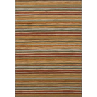 eCarpetGallery Flatweave Manhattan Brown Wool Sumak Rug (6'8 x 9'11)