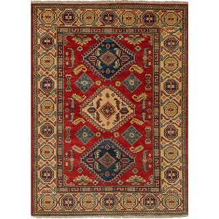 eCarpetGallery Hand-knotted Finest Gazni Red Wool Rug (3'4 x 4'9)