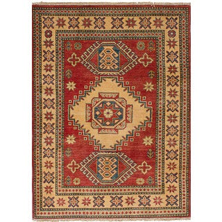 eCarpetGallery Gazni Red Wool Hand-knotted Rug (3'5 x 4'8)