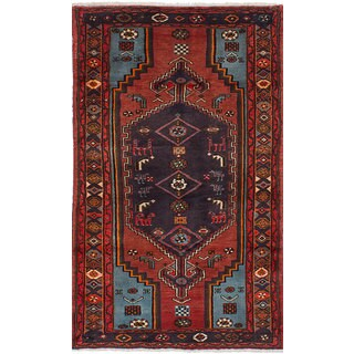 eCarpetGallery Koliai Red Wool/Cotton Hand-knotted Rug (3'8 x 6'3)