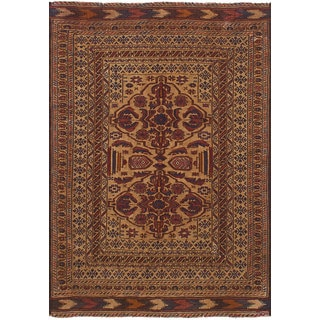 eCarpetGallery Flatweave Shiravan Sumak Brown Wool Rug (3'9 x 5'7)