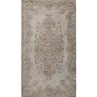 eCarpetGallery Color Transition Grey Wool Hand-knotted Area Rug (3'10 x 6'10)