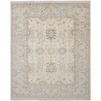 eCarpetGallery Royal Ushak Ivory Wool Hand-knotted Rug - 8'0 x 10'0
