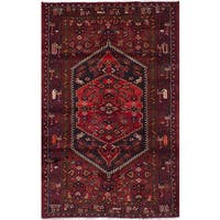 eCarpetGallery Hamadan Red Wool Hand-knotted Rug - 3'11 x 6'6
