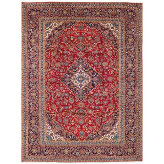 eCarpetGallery Hand-knotted Kashan Red Wool Rug (8'1 x 10'11)
