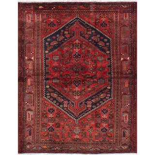 eCarpetGallery Hand-knotted Hamadan Red Wool Rug (4'9 x 6'3)