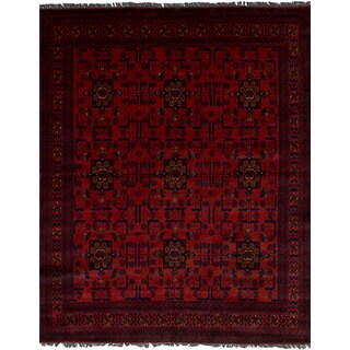 eCarpetGallery Khal Mohammadi Red Wool Hand-knotted Area Rug (4'11 x 6'5)