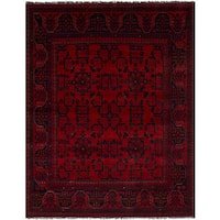 eCarpetGallery Finest Khal Mohammadi Red Wool Hand-knotted Rug - 4'11 x 6'6