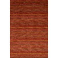 eCarpetGallery Hand-knotted Luribaft Gabbeh Riz Red Wool Rug (4'11 x 7'6)