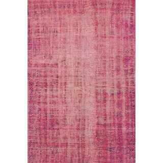 eCarpetGallery Color Transition Pink Wool Hand-knotted Rug - 5'1 x 7'10
