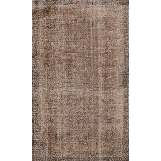 eCarpetGallery Color Transition Brown Wool Hand-knotted Area Rug (5'2 x 8'9)