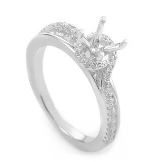 14K White Gold Diamond Mounting Ring RK12141