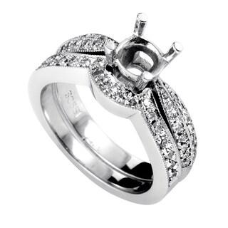 Women's 14K White Gold Diamond Bridal Mounting Set SM4-061764W
