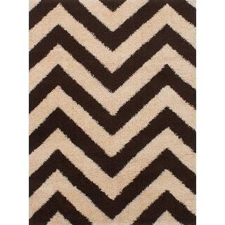 eCarpetGallery Soho Brown/Ivory Microfiber Shag Area Rug (5'5 x 7'3) https://ak1.ostkcdn.com/images/products/16565105/P22897138.jpg?impolicy=medium