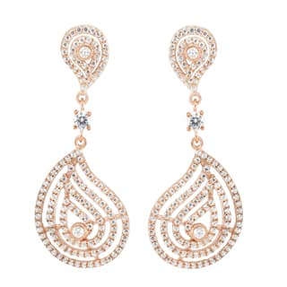 Michael Valitutti Sterling Silver Round Cubic Zirconia Dangle Earrings|https://ak1.ostkcdn.com/images/products/16565122/P22897144.jpg?impolicy=medium