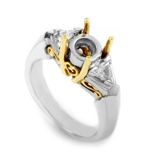 Platinum & Yellow Gold Diamond Engagement Ring Mounting MFC15-041213