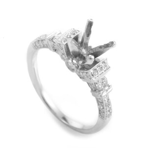 18K White Gold Diamond Engagement Ring Mounting MFC19-052213