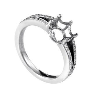 Women's 18K White Gold Diamond Engagement Ring Mounting MFC21-052213