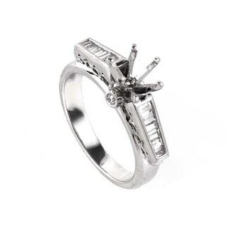 Platinum Raised Diamond Mounting Ring LBD-090735