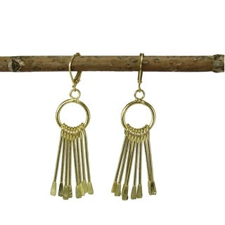 Handcrafted Brass Chime Earrings in Goldtone (India)