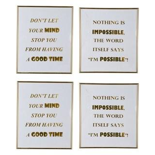 Mindful Sayings Large Wall Art (Set of 4)
