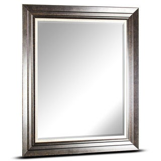 American Art Decor Camden Rectangular Framed Wall Vanity Mirror - Dark Brown - A/N