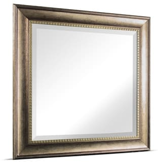 Link to American Art Decor Leighton Square Framed Wall Vanity Mirror - Brown - A Similar Items in Mirrors