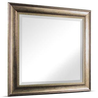 American Art Decor Leighton Square Framed Wall Vanity Mirror - Brown - A/N