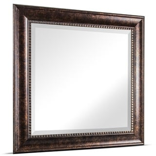 Exceptional Hartley Medium Square Oil Rubbed Bronze Textured Accent Framed Beveled  Wall/ Vanity Mirror