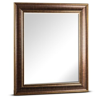 Bentley Medium Rectangular Oil Rubbed Bronze Framed Beveled Wall Vanity Mirror