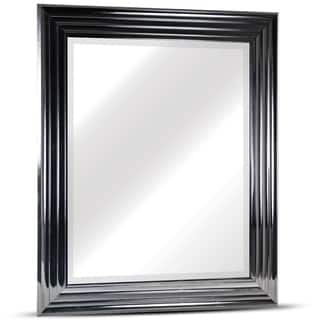 everett rectangular framed wall vanity mirror - Mirror With Black Frame
