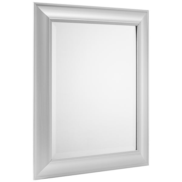 American Art Decor Tranquility Rectangular Framed Wall Vanity Mirror - White - A/N