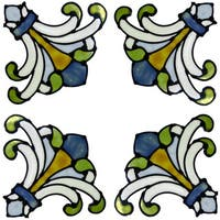 Sage Medici Corners Stained Glass