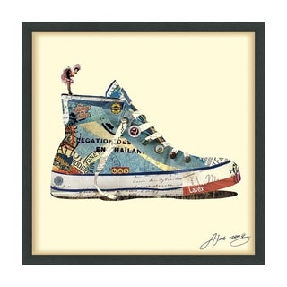 High Top Sneaker Dimensional Art Collage