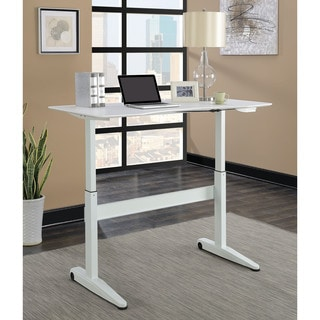 Furniture of America Glidene Modern 59-inch Height Adjustable Computer Table