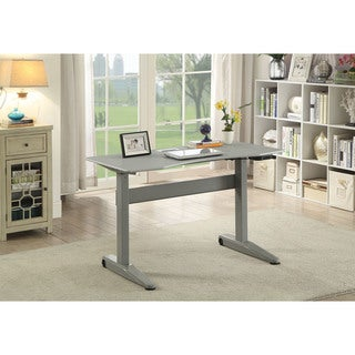 Furniture of America Glidene Modern 47-inch Adjustable Height Computer Table