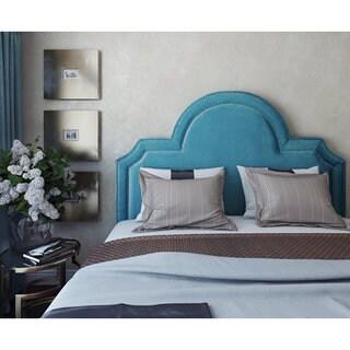 Laylah Sea Blue Velvet Headboard
