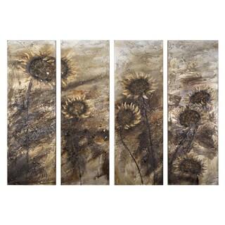 Yosemite Home Decor 'Sunflowers' Original Hand-painted Wall Art Decor
