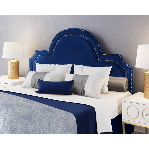 large size upholstered headboard trends including tufted of beautiful navy blue velvet