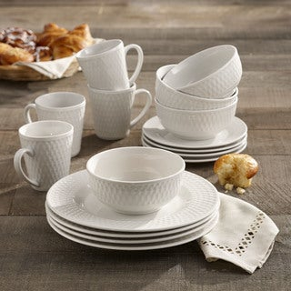 Elle Decor Juliette Porcelain 16-piece Dinnerware Set