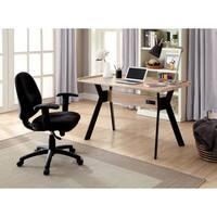 Furniture of America Kilibo Mid-Century Modern Two-Tone Sand Brown Powder Coated Desk