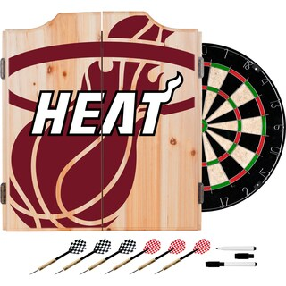 NBA Dart Cabinet Set with Darts and Board - Large Logo (Fade)