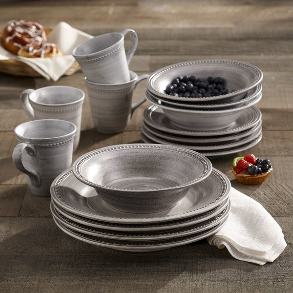 Elle Decor Stone 16-piece Dinnerware Set & Elle Decor Stone 16-piece Dinnerware Set - Free Shipping Today ...