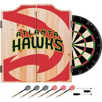 NBA Dart Cabinet Set with Darts and Board - Choose Your Team (Fade)