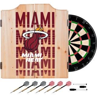 NBA Dart Cabinet Set with Darts and Board - Choose Your Favorite City
