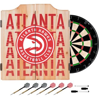 NBA Dart Cabinet Set with Darts and Board - Choose Your Favorite City (Fade)