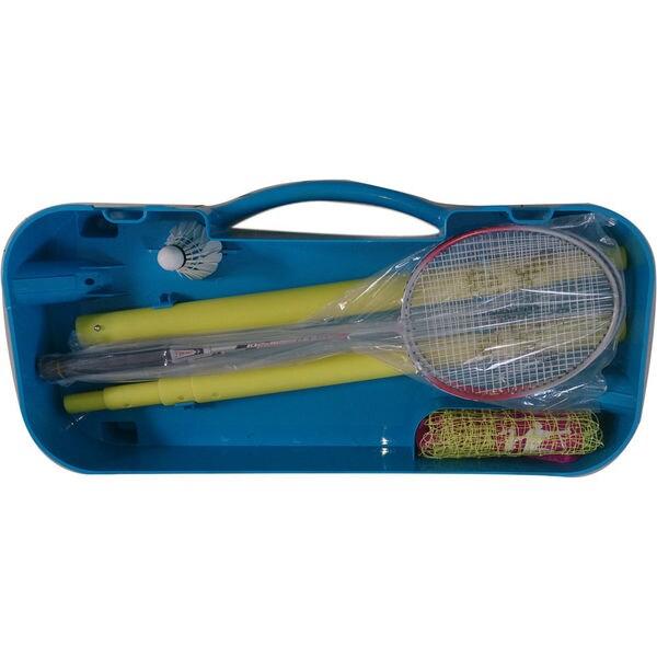 Portable Indoor / Outdoor Badminton Net Set with 2pcs Rackets. Shuttlecock & Case