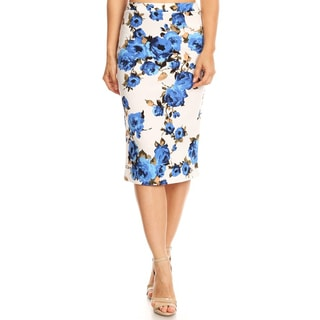 Women's Floral Pattern Pencil Skirt