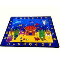 See the Sea Children's Tufted Nylon Educational and Play Area Rug - 6'6 x 8'4
