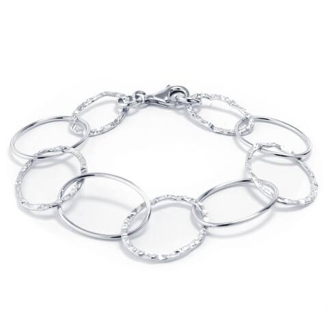 Sterling Silver Open Oval Link Bracelet